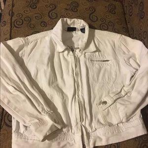 Gap, light weight denim jacket, Medium, white
